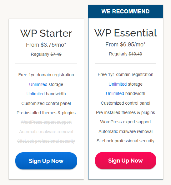 iPage-wordpress-hosting-plan