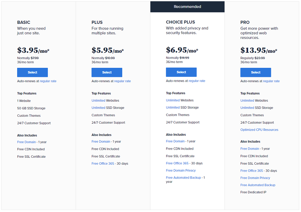 bluehost-plans-pricing